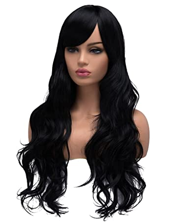 Amazon.com : BESTUNG Long Curly Wavy Wigs