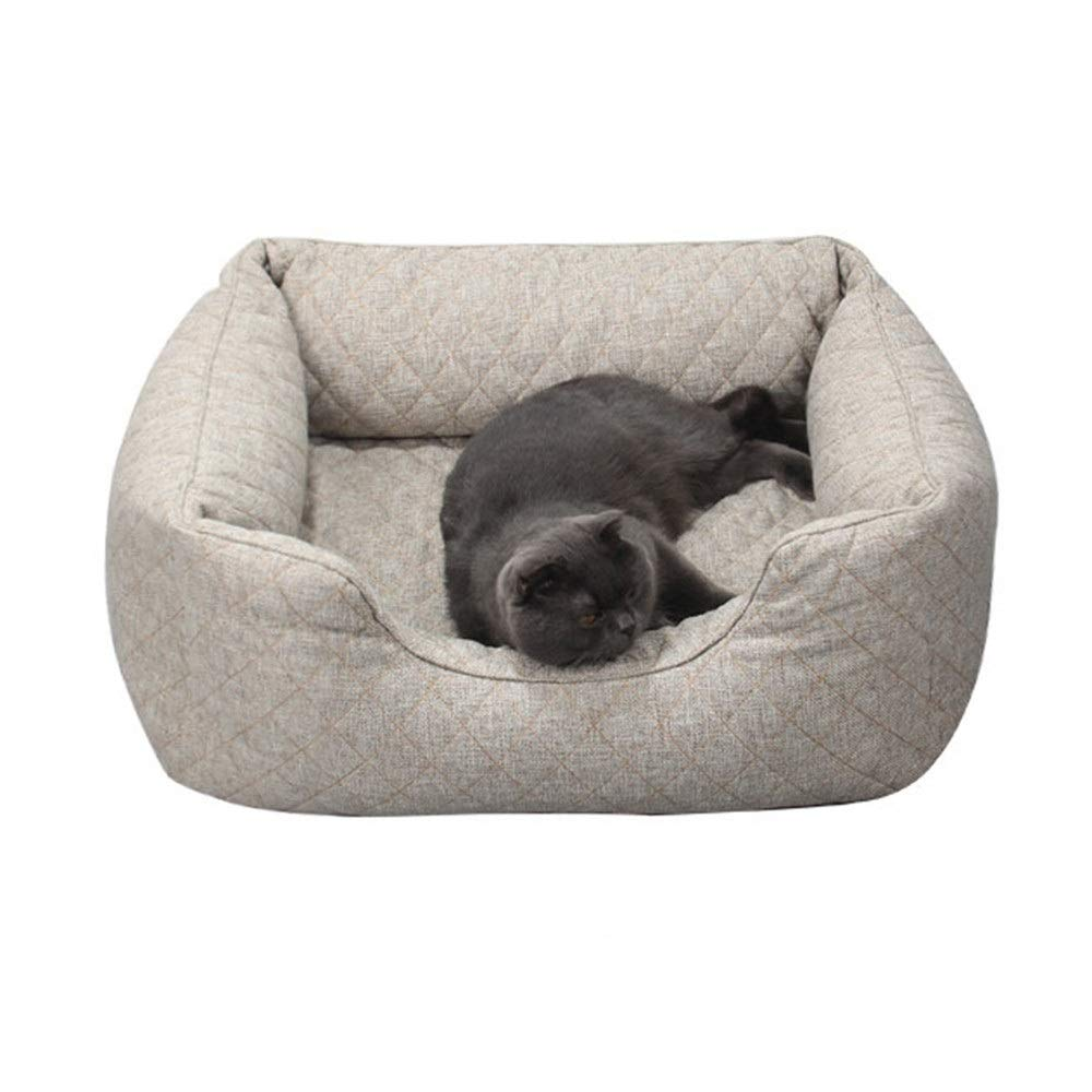 Liuxiaoqing Pet Bed for Cats Small Dogs Simple golden Retriever Kennel Winter New Creative Large Dog Winter Warm Thicken Pet Sofa Bed Removable Soft Comfy Washable