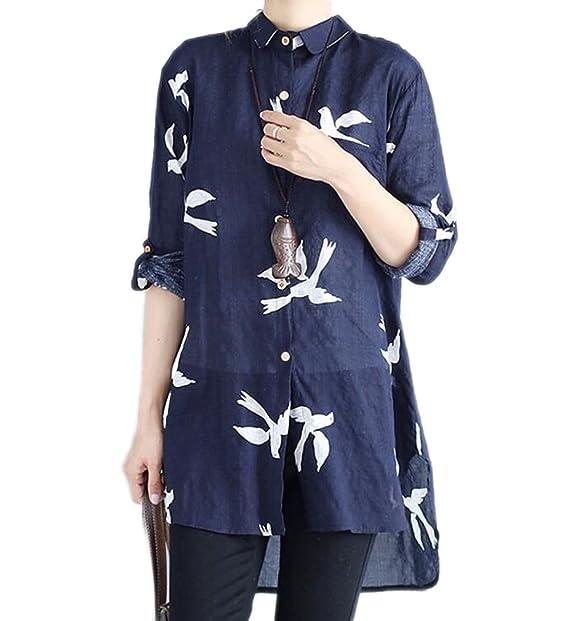 Camisas de Las señoras, Camisas cómodas del Lino del algodón, Tapas Ocasionales Flojas,