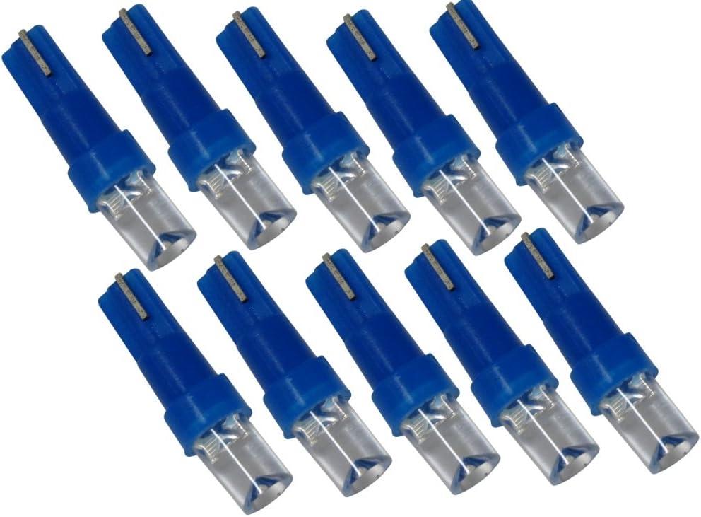 AERZETIX: Lot dampoules pour /éclairage instruments de tableau de bord Couleurs vari/ées Vert, 20 pi/èces T5 12V 1 LED