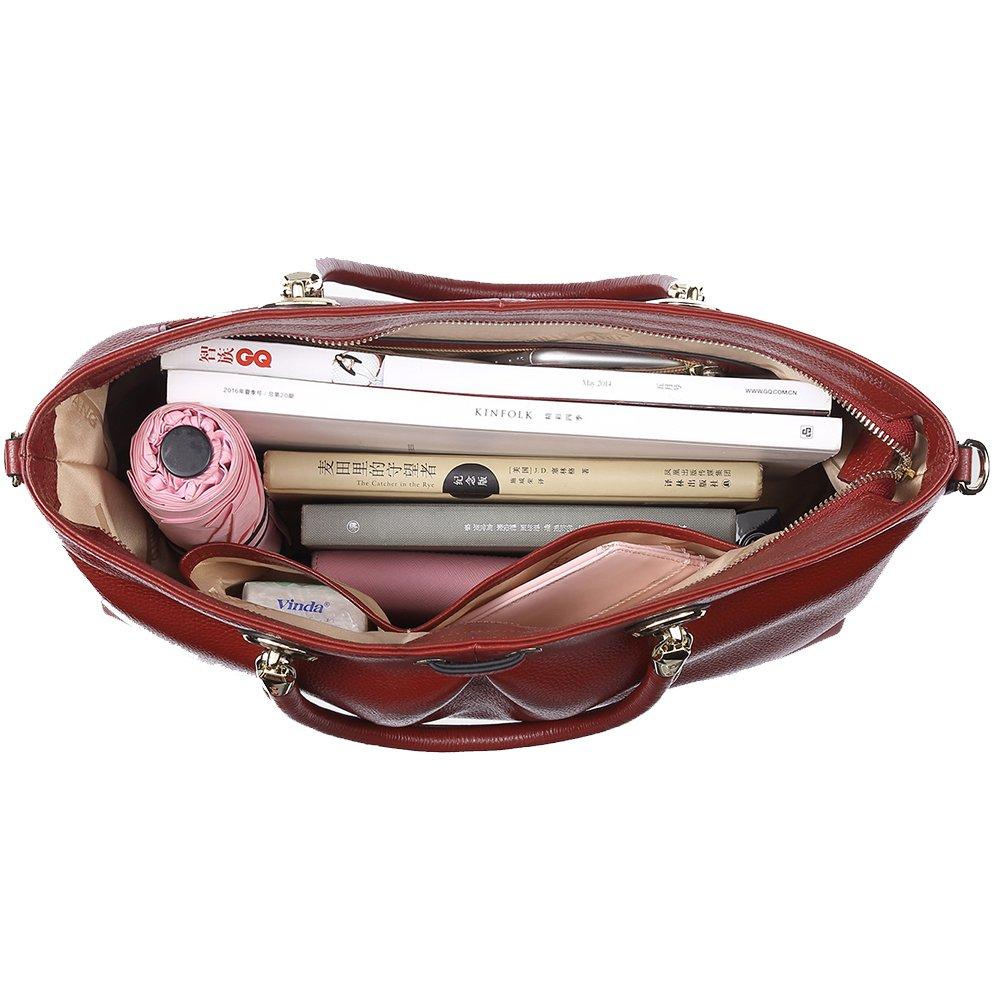 Genuine Supple Leather Handbags for Women Totes Top-handle Handbags Evening Shoulder Handbags