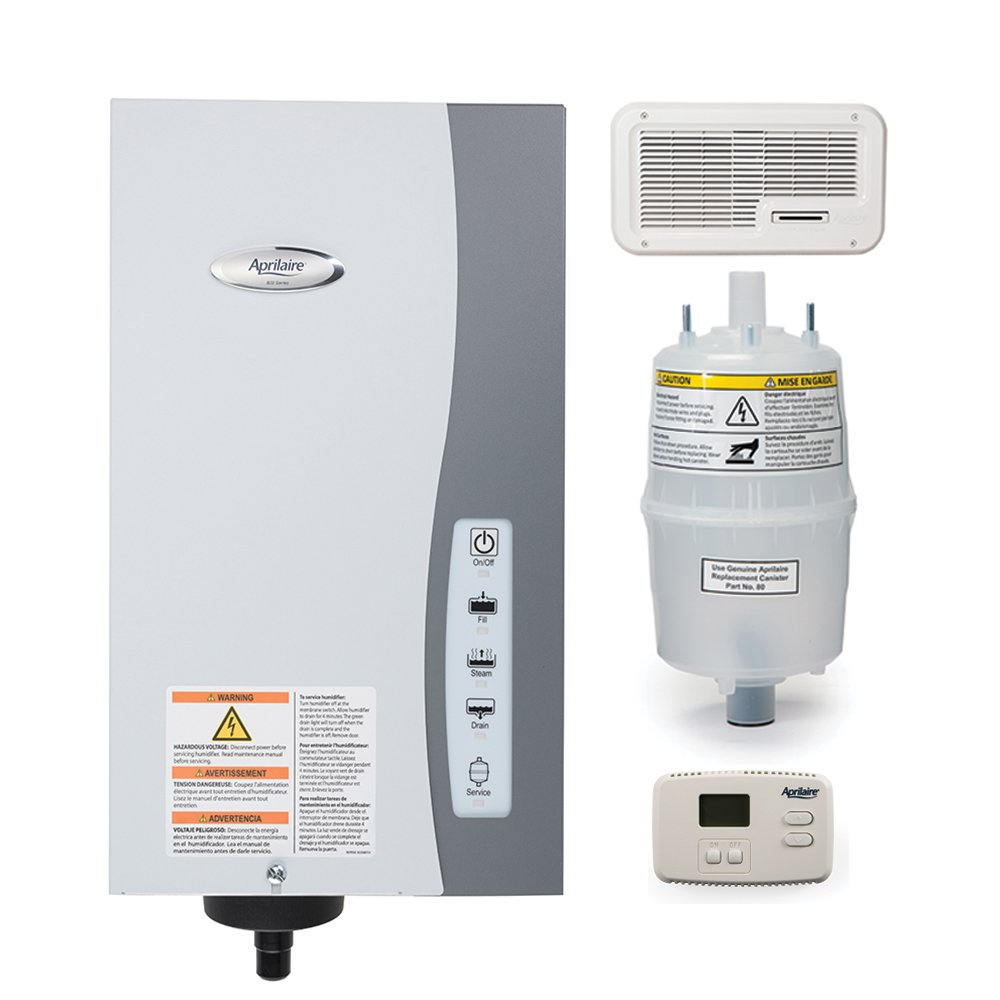 Aprilaire 865 Whole House Steam Humidifier with Wall Mount Fan