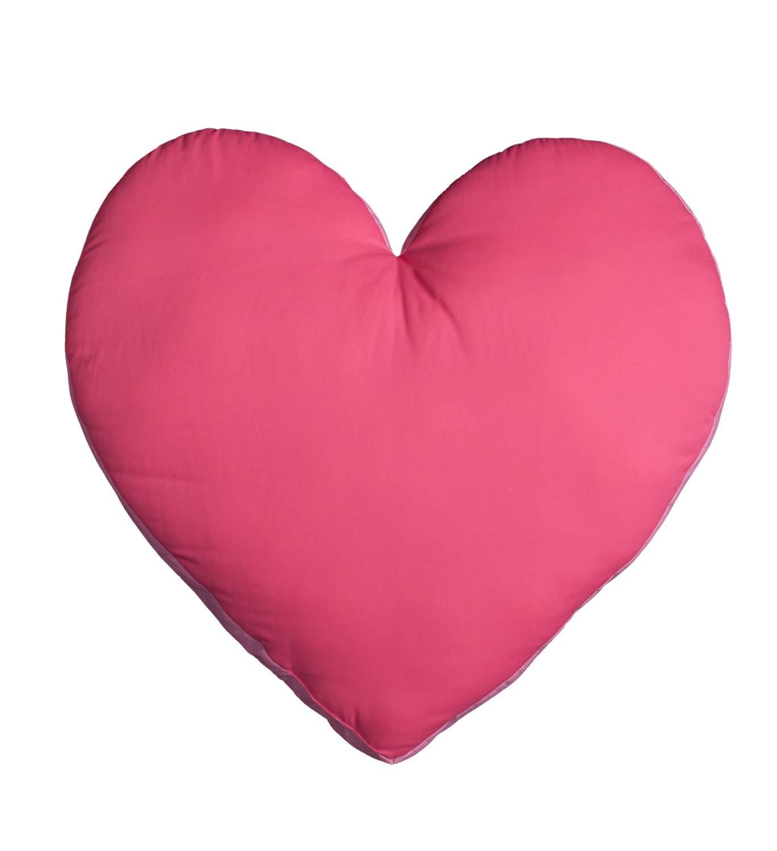 Cojín en forma de corazón color fucsia: Amazon.es: Bebé