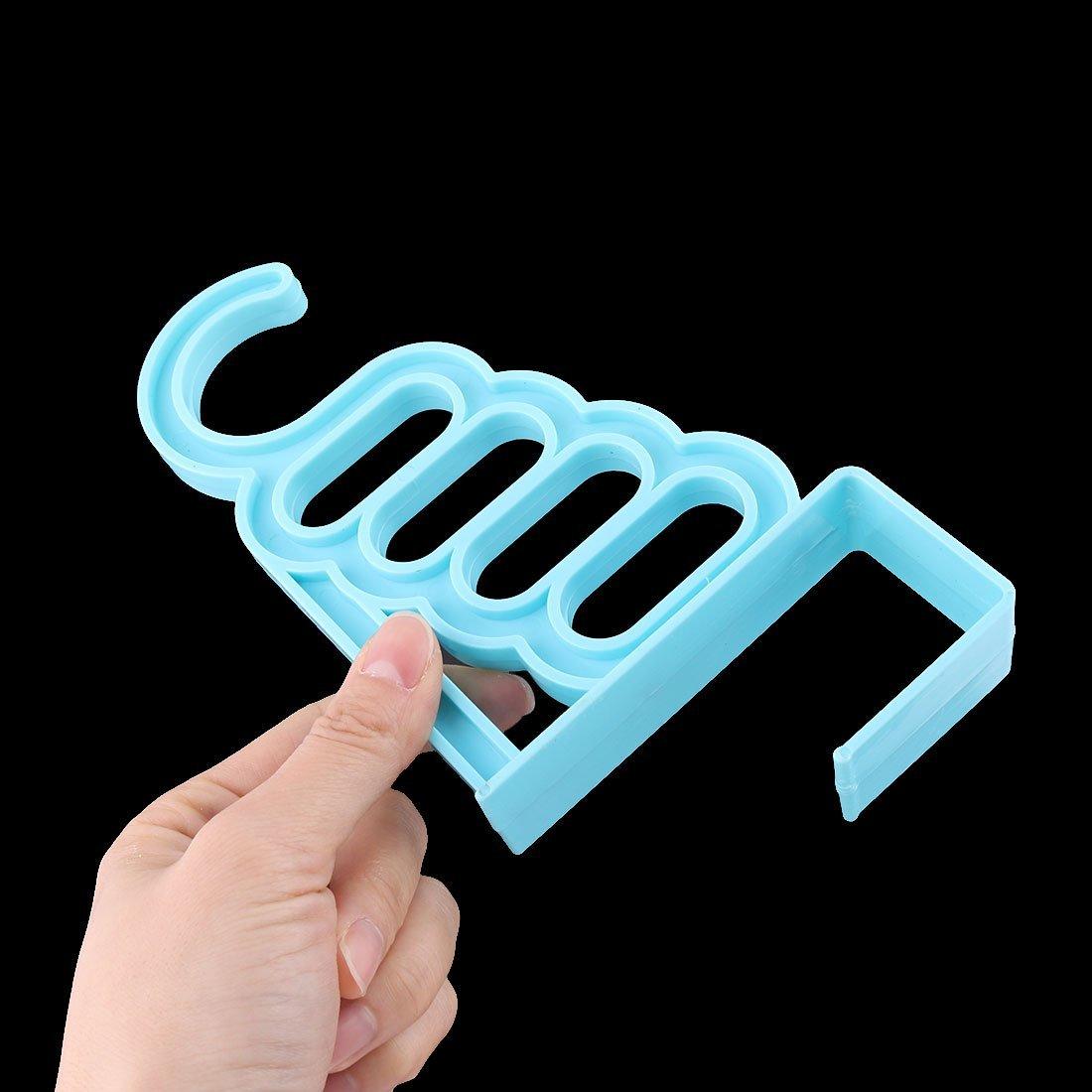 eDealMax plástico Inicio Sala de puerta del armario de colgador de ropa Toalla bufanda calcetín cuelga la Azul - - Amazon.com