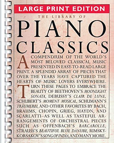(The Library of Piano Classics - Large Print Edition)