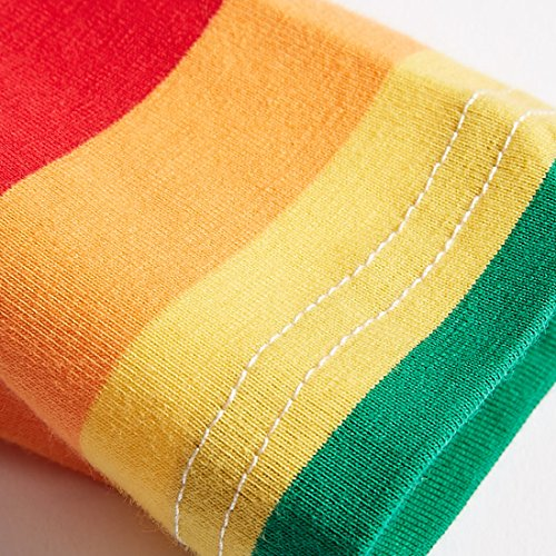 9a2a7d7f Sooxiwood Little Boys T-Shirt Rainbow Striped O-Neck | Weshop Vietnam