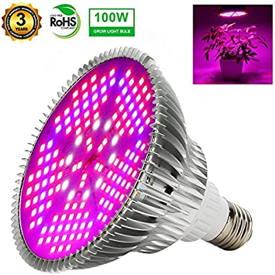 100w Led Grow Light Bulbs Full Spectrum 150 Leds Indoor Plant Growing Lights Lamp For Vegetable Greenhouse Hydroponic E26 Indoor Grow Light Ac 85 265v Amazon Com Au Lighting