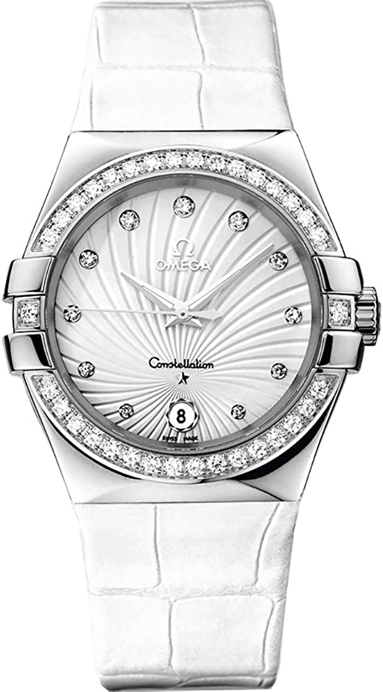 Women's Omega Constellation Diamond 35mm Luxury Watch 123.18.35.60.52.001