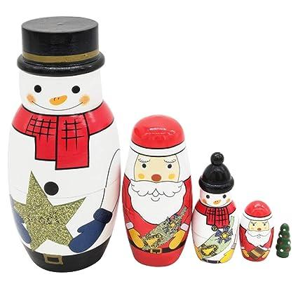 Amazon.com: Muñecas rusas Nesting 10 piezas, lindas muñecas ...