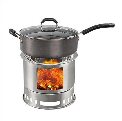 KANGLE Estufa De Leña Al Aire Libre A Prueba De Viento Portátil Utensilios De Cocina Que
