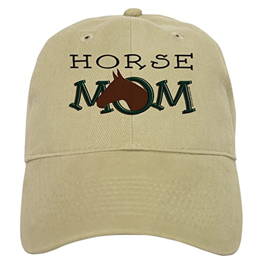 e59ef3f1173 CafePress - Bay Horse Mom Mother's Day Cap - Baseball Cap with Adjustable  Closure, Unique