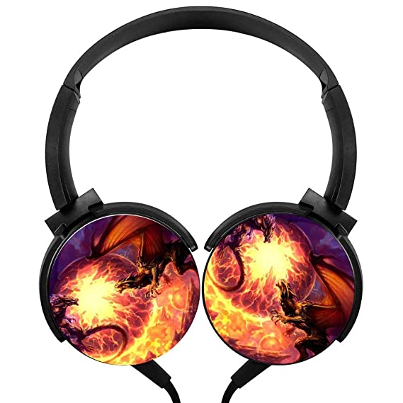 amazon com blthfun foldable stereo headphone dragons 3d printed