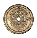 Livex Lighting 8211-65 Ceiling Medallion, Hand Painted Vintage Gold Leaf