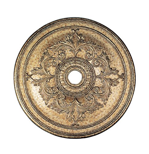 Livex Lighting 8211-65 Ceiling Medallion, Hand Painted Vintage Gold (Painted Ceiling Medallions)