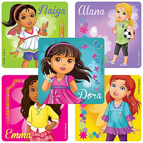 Dora & Friends Characters Stickers - Birthday Party Supplies & Favors - 100 Per Pack