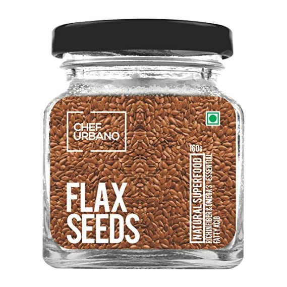 Chef Urbano Flax Seeds Bottle, 160 g