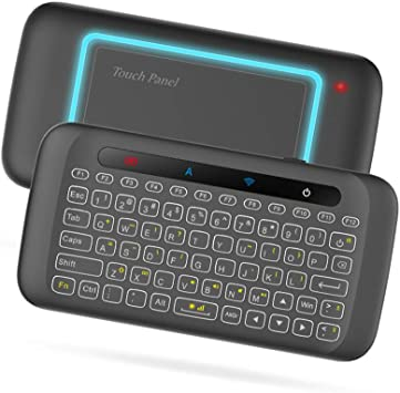 Docooler Teclado inalámbrico de 2.4GHz Retroiluminación de Colores Panel táctil Control Remoto portátil w/Panel táctil Grande IR Aprendizaje para Smart TV Android TV Box PC portátil: Amazon.es: Electrónica