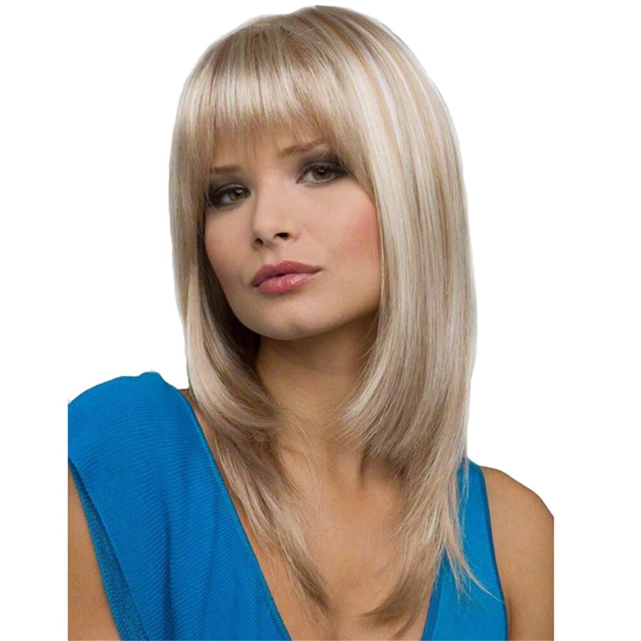 Parrucche Donna Capelli Veri Lunghi Lisci Bianchi Wig Per Feste Cosplay Party Daily Life Di Colore Partito Viaggio Shopping Parrucca Bianco