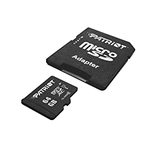 Patriot LX Series 64GB High Speed Micro SDXC Class 10 UHS-I Transfer Speeds For Action Cameras, Phones, Tablets, and PCs (Packaging may vary)