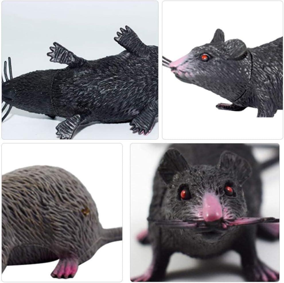 6 Pezzi NUOBESTY Ratti Dallaspetto Realistico Modello di Topo Finto Giocattolo da Topo Spaventoso per Il Giocattolo di Scherzo della Festa di Halloween