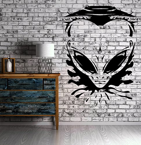 Vinyl Decal Wall Sticker Angry Alien UFO Spaceship Universe Space Modern Man Cave Decor ()