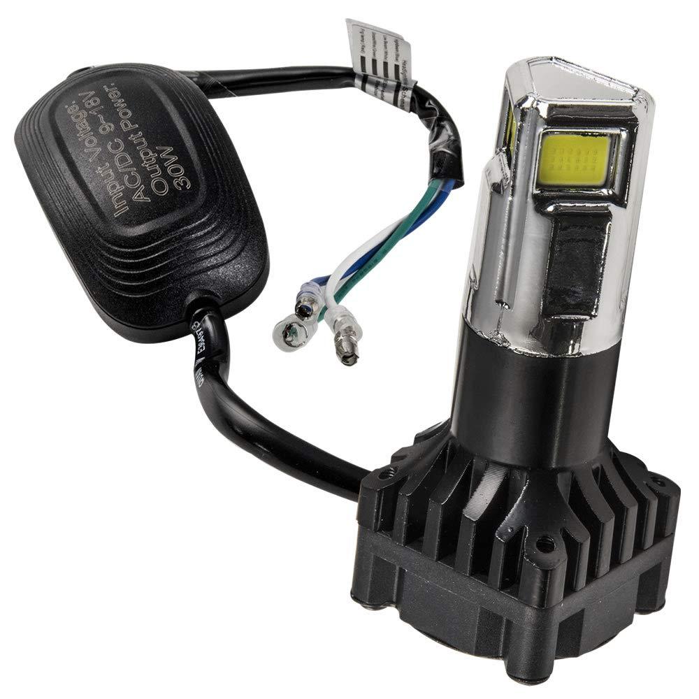 (10~13) スクーター用LEDヘッドライト 3000ルーメン AC&DC9-18V PCX125 30W HS5 ホンダ 直流交流 1個 両対応