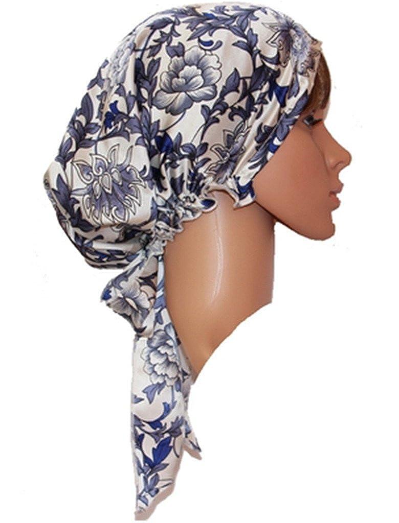 d00e3599c5b Ayiyoy 100% Mulberry Silk Soft Bonnet Sleep Cap at Amazon Women s Clothing  store