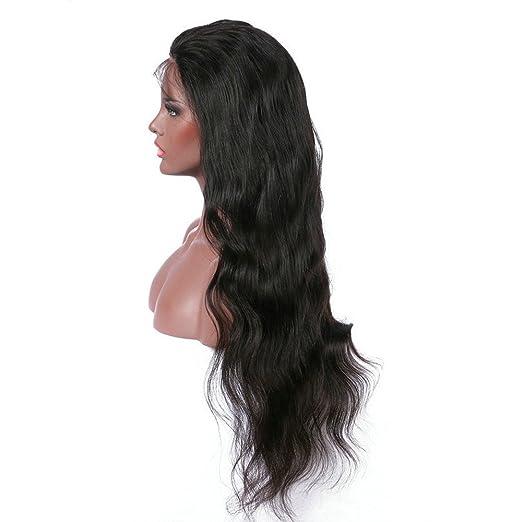 Malloom Mode Frauen-synthetische Haar-Per/ücken Braun Long Gold Gewellte volle Per/ücken-Party Haar Per/ücke