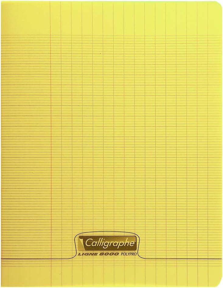 Calligraphe 18178C Gamme 8000 Un cahier piqu/é 24x32 cm 48 pages grands carreaux couverture Orange