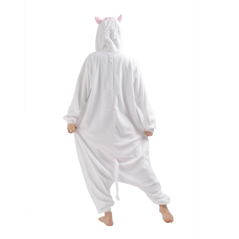 Cute On Adult Anime Sleepsuit Pajamas Costume Animal Onesie Cat Cosplay Size XL White