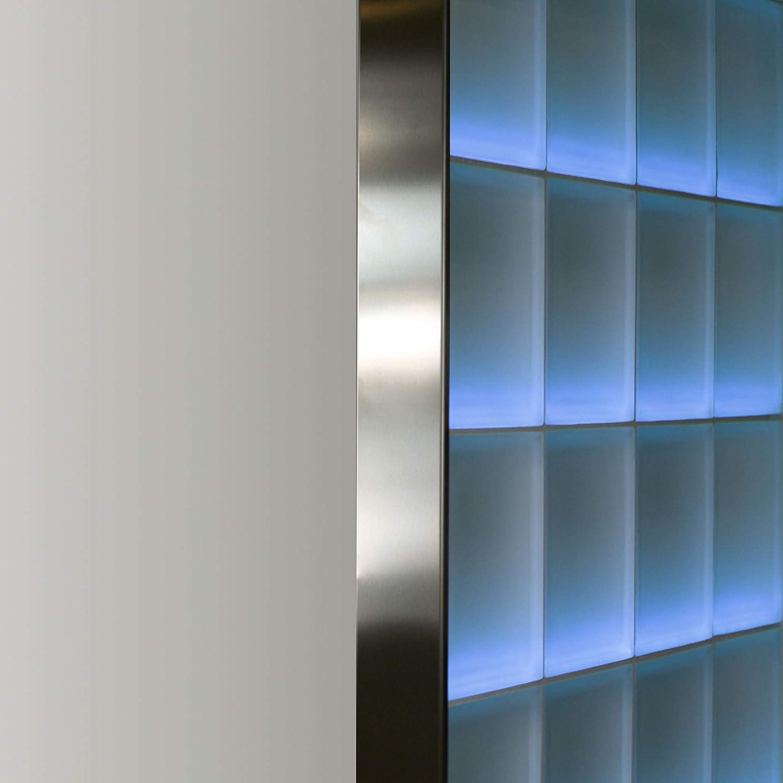 aluminium satin/é 1,25 m Longueur FUCHS profil/é finition pour briques de verre pour brique de verre /épaisseur 8 cm