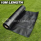 GroundMaster 5m x 10m Heavy Duty Weed Control Fabric Ground Cover Membrane