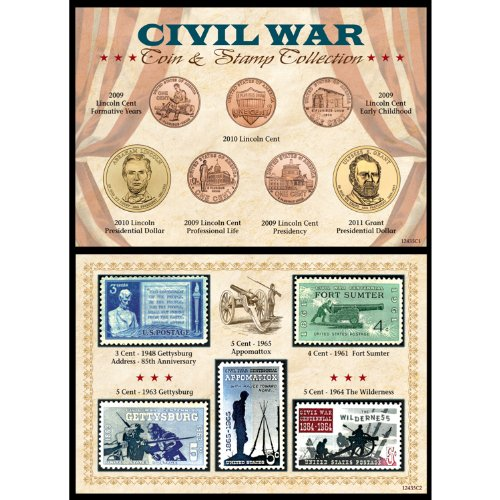 American Coin Treasures Civil War Coin and Stamp Collection, 6 x 4