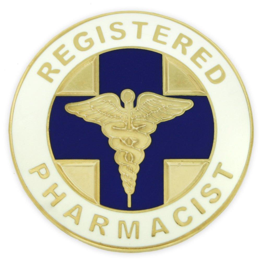 PinMart Registered Pharmacist Medical Caduceus Lapel Pin