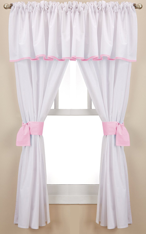 BabyDoll Forever Mine Junior 5 Piece Window Valance Curtain Set, Pink baby doll; window curtains 560valc5-pink