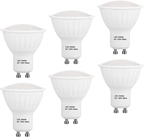 Dimmable GU10 LED Spotlight Bulbs 5000K-Daylight White 7W 700 Lumens GU10 Base for Recessed Track Lighting 60W Halogen Bulbs Equivalent Pack of 6