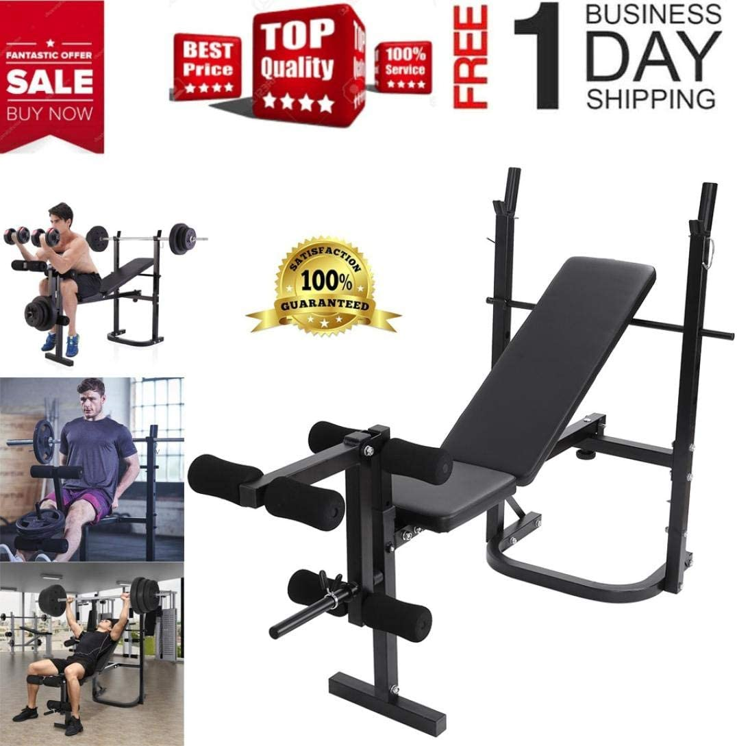 Adjustable Weight Bench Adjustable Sit Up Bench Incline Abs Bench Barbell Lifting Press Home Gym Exeecise Foldable Incline//Decline Weight Bench Folding Strength Training Bench for Full Body