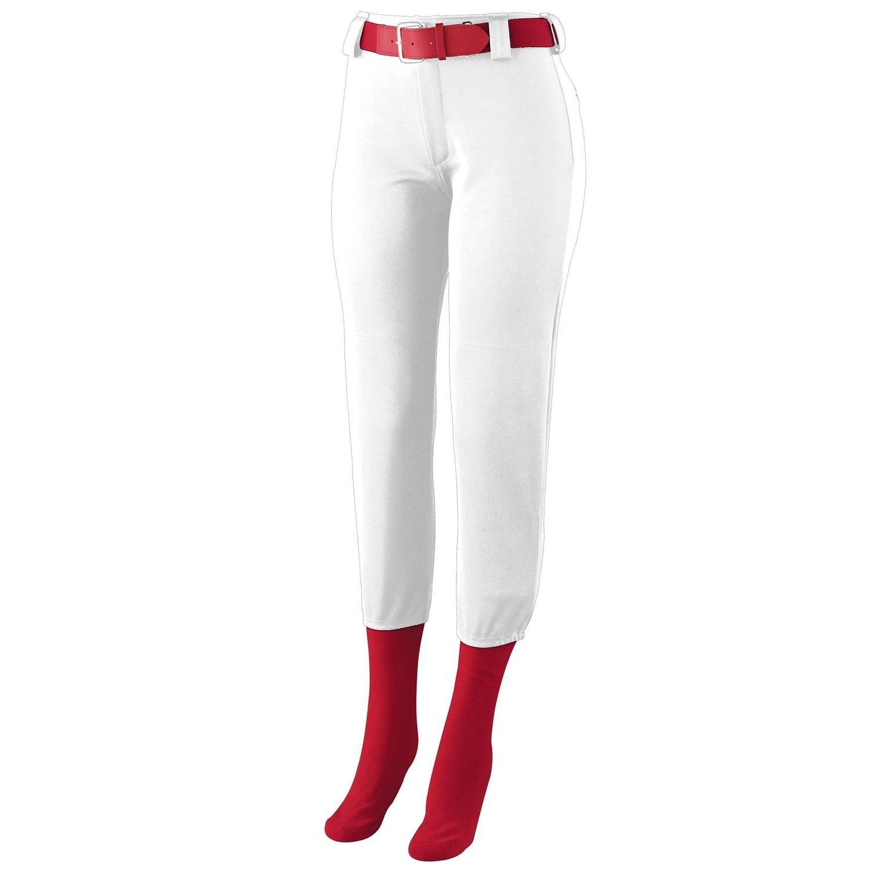 Augusta SportswearレディースHomerun Low Riseソフトボールパンツ B00GK5S62I Small|ホワイト ホワイト Small