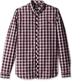 Fred Perry Men's Summer Tartan Shirt, Rosewood, Small
