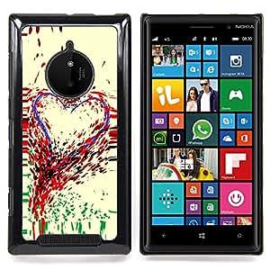 Eason Shop / Premium SLIM PC / Aliminium Casa Carcasa Funda Case Bandera Cover - Arte Corazón Pintura colorida pintura Gotas Amor - For Nokia Lumia 830