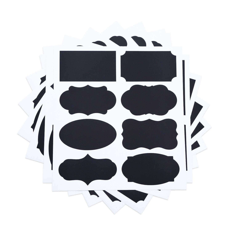 黒板ラベル、Maan 8 Designs 64パック2 x 3.5インチJarsの接着剤のステッカー、整理、ラベリング、ギフトタグ   B01AIHWOE4