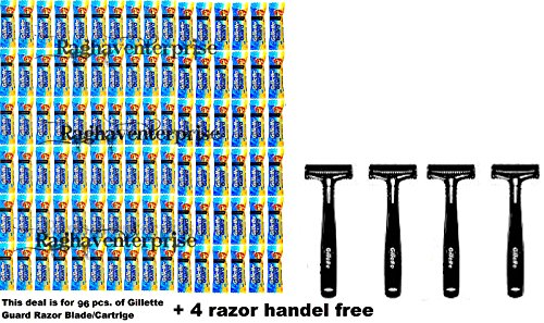 96-Gillette-Guard-Razor-Cartidge-blade-4-RAZOR-HANDLE-Gillete-Safty-Razor-Blade