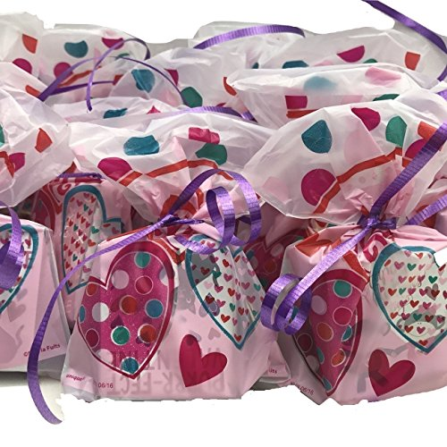 25 Valentine's Day Pre-Filled Favor Gift Bags! Perfect For Classroom Gift Exchange, Valentines Day Party Favors & Valentines Day Gifts!