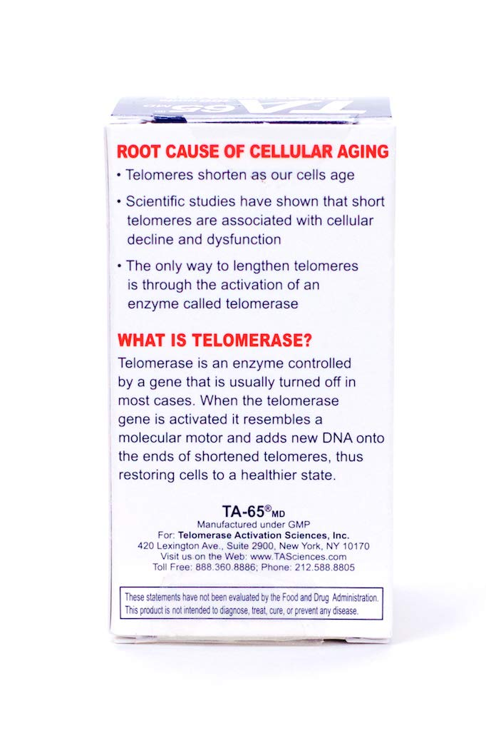 T.A. Sciences   TA-65 30 Caps 100U   Free $99.00 Value   Rg-Cell Concentrated Restorative Serum with EGF &AFA Algae by T.A. Sciences (Image #4)
