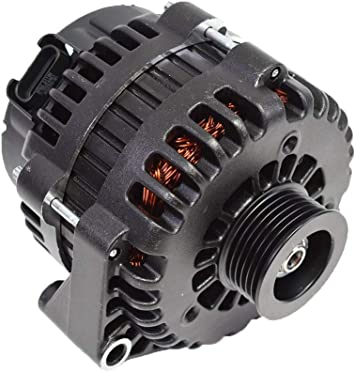 A-Team Performance GM AD244 Style High Output 220 Amp Alternator Black Compatible with Chevrolet BBC SBC GM Diesel