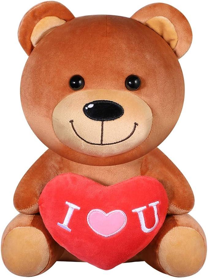 "Teddy Bear 10""Valentine Stuffed Animal Plush I LOVE YOU Red Heart Oso de Peluche"