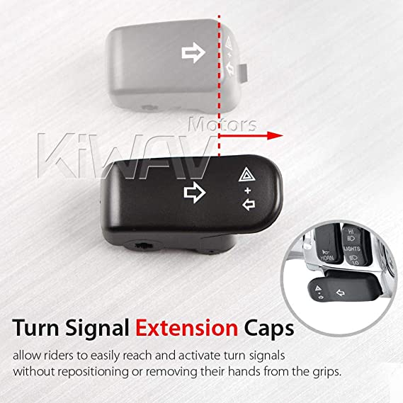 turn signal switch extension button black oe#71500179 for 96-later VRSC US STOCK