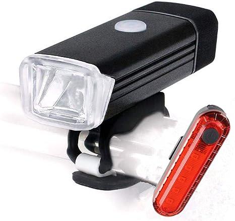 GOPG Set Luces de Bicicleta USB Recargable, LED Impermeable Luz ...