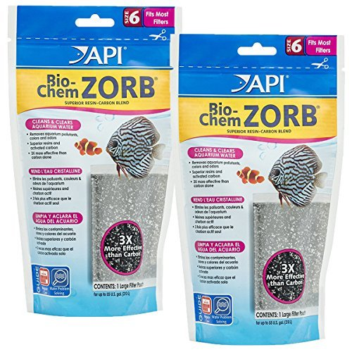 API Bio-Chem Zorb Filter Media Pouch, Size 6 (2 (Heavy Bag Media)