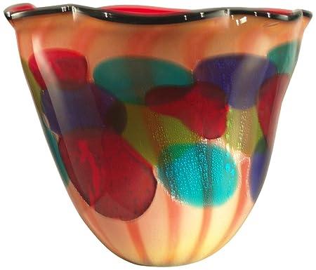 Dale Tiffany Celebration Art Glass Vase Amazon Kitchen Home